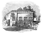 Lichfield School [Staffordshire, England]. From the book The wanderings of a pen and pencil by Palmer, F. P. (Francis Paul); Illustrated by Crowquill, Alfred, [Alfred Henry Forrester]  Published in London by Jeremiah How in 1846