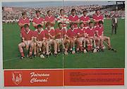 All Ireland Senior Hurling Championship - Final,.04.09.1983, 09.04.1983, 4th September 1983,.Kilkenny v Cork, .Kilkenny 2-14, Cork 2-12,.04091983AISHCF,.Back row, Donal O'Grady, Pat Horgan, Tim Crowley, Ger Cunningham, John Buckley, Brian Murphy, John Crowley, Front row, Eamonn O'Donoghue, Tomas Mulcahy, Kevin Hennessy, Jummy Barry Murphy captain, Tom Cashman, Dermot McCurtain, Bertie Og Murphy, John Fenton,