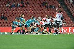 South Africa - Johannesburg, Emirates Airlines Park. 24/08/18  Currie Cup. Lions vs Griquas. Griquas and Lions fight for possession of the ball.<br /> 2nd half.  Picture: Karen Sandison/African News Agency(ANA)