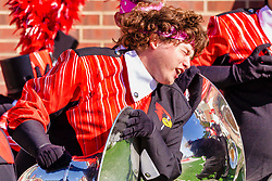 NORMAL, IL - October 16: Dancing tuba player during a college football game between the NDSU (North Dakota State) Bison and the ISU (Illinois State University) Redbirds on October 16 2021 at Hancock Stadium in Normal, IL. (Photo by Alan Look)