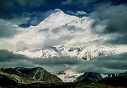 Kangshung face Chomolungma, Mt Everest, South Col on left. Tibet