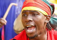 Photo: Steve Bond/Richard Lane Photography.<br />Ghana v Cameroon. Africa Cup of Nations. 07/02/2008. Cameroon fan