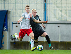 GRÖDIG, AUSTRIA - Tuesday, December 10, 2019: Liverpool's Luis Longstaff (R) during the final UEFA Youth League Group E match between FC Salzburg and Liverpool FC at the Untersberg-Arena. (Pic by David Rawcliffe/Propaganda)