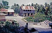 Village street and historic buildings at Toco, Trinidad, Trinidad and Tobago 1961-1963