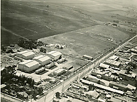 1920 Aerial photo of Hollywood Studios on Santa Monica Blvd.