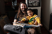 BALTIMORE, MD -- 12/22/14 -- Benjamin Jancewicz, 31, a designer from Baltimore, with his son, Arion Jancewicz, 6, talks about the complexity of being a biracial family.…by André Chung #_AC23747