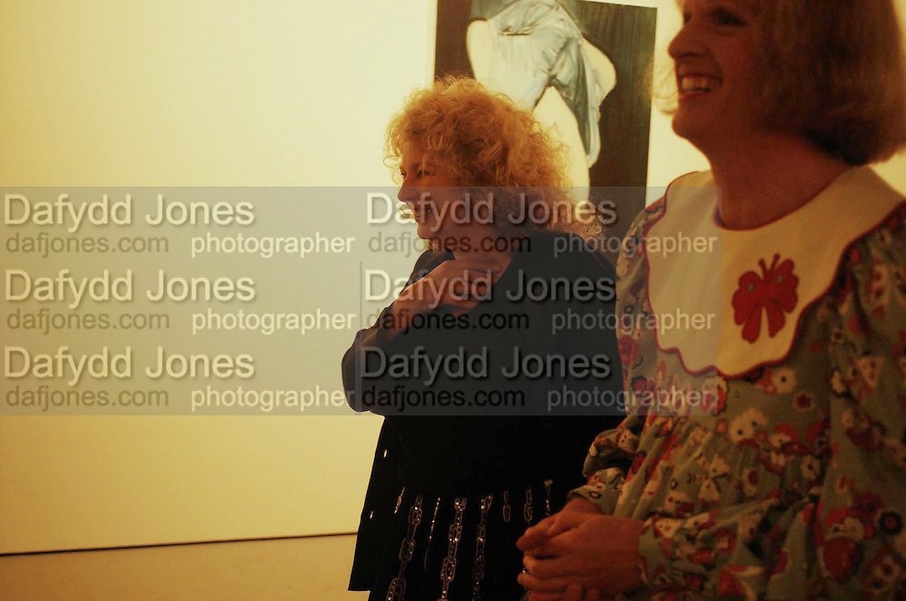 Marlene Dumas and Grayson Perry, the Triumph of Painting. Part 1. The Saatchi Gallery. 25 January 2005. ONE TIME USE ONLY - DO NOT ARCHIVE  © Copyright Photograph by Dafydd Jones 66 Stockwell Park Rd. London SW9 0DA Tel 020 7733 0108 www.dafjones.com