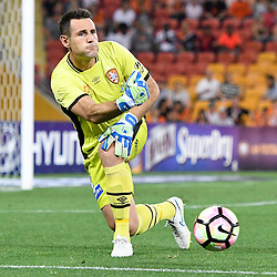 BRISBANE, AUSTRALIA - NOVEMBER 19: Michael Theo of the Roar in action during the round 7 Hyundai A-League match between the Brisbane Roar and Sydney FC at Suncorp Stadium on November 19, 2016 in Brisbane, Australia. (Photo by Patrick Kearney/Brisbane Roar)