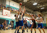 Concord Christian versus Pittsfield varsity basketball at Concord YMCA December 7, 2012. (Karen Bobotas/ for Concord Monitor)