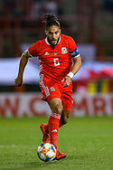 Wales defender Ashley Williams during the Friendly European Championship warm up match between Wales and Trinidad and Tobago at the Racecourse Ground, Wrexham, United Kingdom on 20 March 2019.