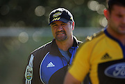 Hurricanes coach Colin Cooper.<br /> Super 14 - Hurricanes training session, at Rugby League Park, Wellington. Wednesday, 21 May 2008. Photo: Dave Lintott/PHOTOSPORT