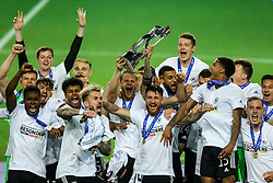 LJUBLJANA, SLOVENIA - JUNE 06: Arne Maier of Germany and his team mates celebrate with the UEFA European Under-21 Championship trophy following victory in the 2021 UEFA European Under-21 Championship Final match between Germany and Portugal at Stadion Stozice on June 06, 2021 in Ljubljana, Slovenia. Photo by Grega Valancic / Sportida