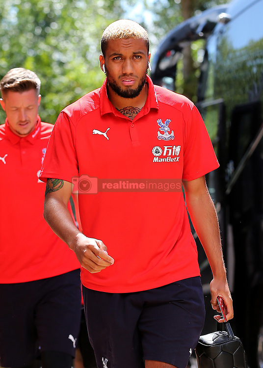 """Crystal Palaces Jairo Riedwald arrives at Madejski Stadium during the pre-season friendly match at the Madejski Stadium, Reading. PRESS ASSOCIATION Photo. Picture date: Saturday July 28, 2018. See PA story SOCCER Reading. Photo credit should read: Mark Kerton/PA Wire. RESTRICTIONS: EDITORIAL USE ONLY No use with unauthorised audio, video, data, fixture lists, club/league logos or """"live"""" services. Online in-match use limited to 75 images, no video emulation. No use in betting, games or single club/league/player publications."""