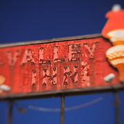 Valley Inn Sign - Kingsburg, CA - Highway 99 - Lensbaby