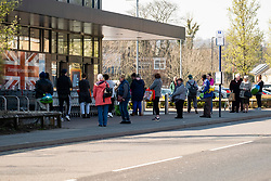 Aldi introduce a one customer out, one customer in and two meter separation queuing system at thier ecclesfield branch to help combat the spread of corona virus <br /> <br /> 26 March 2020<br /> <br /> www.pauldaviddrabble.co.uk<br /> All Images Copyright Paul David Drabble - <br /> All rights Reserved - <br /> Moral Rights Asserted -