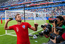 July 7, 2018 - Samara, Russia - 180707 Harry Kane of England throws his captain arm band when he celebrates after winning the FIFA World Cup quarter final match between Sweden and England on July 7, 2018 in Samara..Photo: Petter Arvidson / BILDBYRÃ…N / kod PA / 92083 (Credit Image: © Petter Arvidson/Bildbyran via ZUMA Press)
