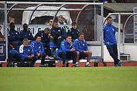Tippeligaen 2013.<br /> Sandnes Ulf v Strømsgodset.<br /> Sandnes Stadion. 14.07.2013<br /> <br /> Foto. Simon Rogers, Digital Sport.<br /> <br /> Sandnes.<br /> Strømsgodset. Ronny Delia.