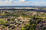 Nederland, Zuid-Holland, Gemeente Rotterdam, 15-07-2012; Deelgemeente Hoogvliet, stadsvernieuwing. In de achtergrond Pernis..Residential area Hoogvliet (Rotterdam)..aerial photo (additional fee required).foto/photo Siebe Swart
