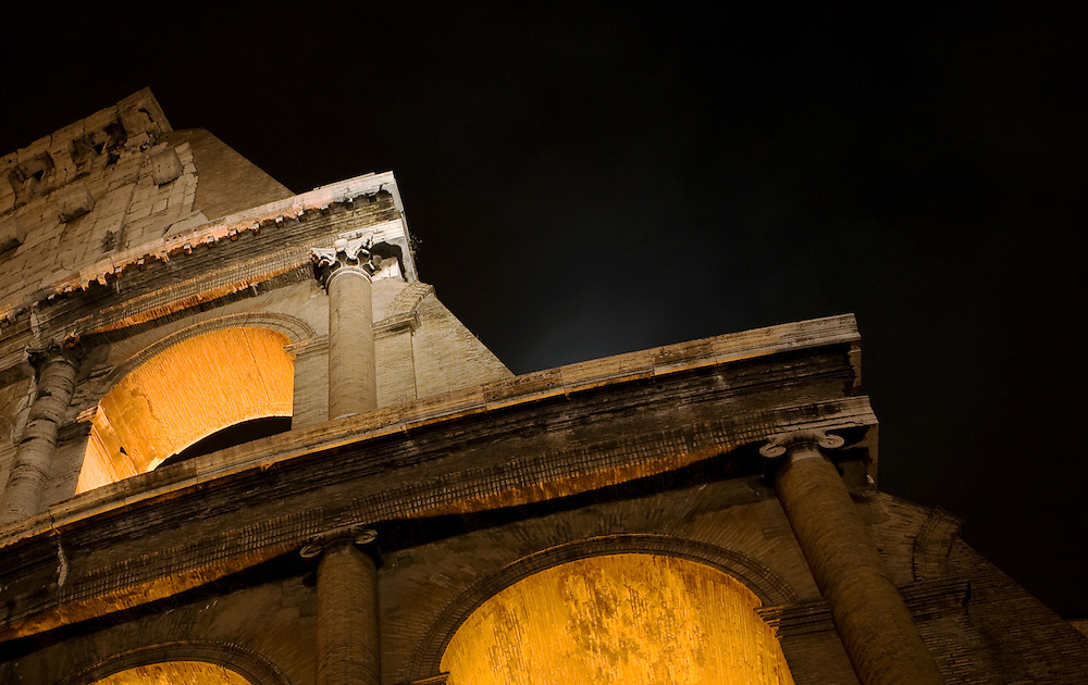 Colosseum (Colosseo) at Night, Rome, Italy