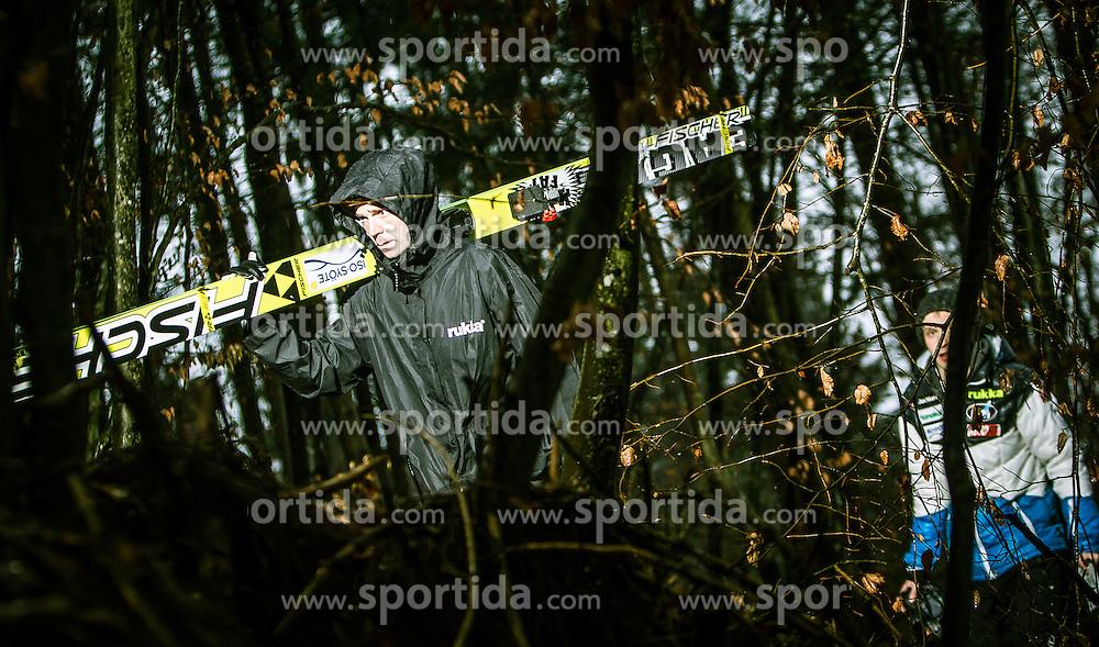 05.01.2014, Paul Ausserleitner Schanze, Bischofshofen, AUT, FIS Ski Sprung Weltcup, 62. Vierschanzentournee, Training, im Bild Janne Ahonen (FIN) // Janne Ahonen (FIN) during practice Jump of 62nd Four Hills Tournament of FIS Ski Jumping World Cup at the Paul Ausserleitner Schanze, Bischofshofen, Austria on 2014/01/05. EXPA Pictures © 2014, PhotoCredit: EXPA/ JFK