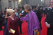 BARBARA WINDSOR; MARCIA WARREN, Olivier Awards 2012, Royal Opera House, Covent Garde. London.  15 April 2012.