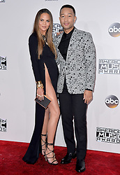 Chrissy Teigen and John Legend attend the 2016 American Music Awards at Microsoft Theater on November 20, 2016 in Los Angeles, CA, USA. Photo by Lionel Hahn/ABACAPRESS.COM