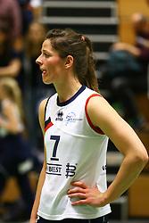 20160409 NED: Volleybal: Sliedrecht Sport - Eurosped TVT, Sliedrecht  <br />Nienke de Waard is teleurgesteld.