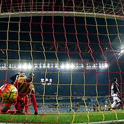 Besiktas's Mario Gomez (L) during their Turkish Super League soccer match Kayserispor between Besiktas at the Kadir Has Stadium in Kayseri Turkey on Saturday 05 December 2015. Photo by Kurtulus YILMAZ/TURKPIX