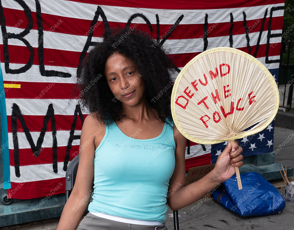Name to come Black Lives Matter demonstrator, New York.  ©Brian Branch-Price