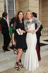 Left to right, The MARCHIONESS OF BUTE and CHARLOTTE STOCKDALE at a dinner hosted by HRH Prince Robert of Luxembourg in celebration of the 75th anniversary of the acquisition of Chateau Haut-Brion by his great-grandfather Clarence Dillon held at Lancaster House, London on 10th June 2010.