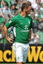 14.08.2010, Wersestadion, Ahlen, GER, Rot Weiss Ahlen vs Werder Bremen 0:4, DFB Pokal 1. Runde,  1. FBL 2010, im Bild Marko Arnautovic ( Werder #07 ) beim Warm up. EXPA Pictures © 2010, PhotoCredit: EXPA/ nph/  Kurth+++++ ATTENTION - OUT OF GER +++++ / SPORTIDA PHOTO AGENCY