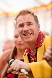 "On Lead Vocals Trumpet and ""Bring Me Sunshine"" Ukulele Mr Ian Clarkson..9 September 2012.Image © Paul David Drabble"