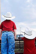 Young cowbos at Rodeo in Three Forks Montana