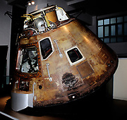 Apollo 10 Command Module. Circa 1969. The capsule in which astronauts Tom Stafford, John Young and Gene Cernan travelled around the moon in 1969. Apollo 10 was a dry run for the Moon landing which followed it.