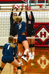 01 October 2019:    Ridgeview Mustangs at Heyworth Hornets Girls Volleyball at Heyworth Illinois