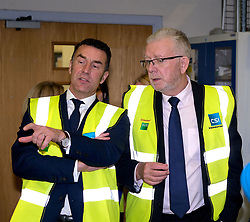 Helping Businesses Prepare For Brexit, Livingston, Thursday 1st November 2018<br />  <br /> Constitutional Relations Secretary Michael Russell launched a new dedicated online domain and a specially designed Brexit self-assessment tool in Livingston.<br /> <br /> The self-assessment tool will help businesses identify how Brexit might affect them, providing bespoke recommendations for action to help their planning activities. It will also be home to the Brexit toolkit, 15-point checklist, news, articles, access to experts and event listings.<br /> <br /> The launch was made during a visit to CSI Group (Complete Storage Interiors) in Livingston where Mr Russell talked to the company about the challenges Brexit poses for business, particularly SMEs.<br /> <br /> Pictured: CSI Group Managing Director Robert Kennedy (left) and Michael Russell<br /> <br /> Alex Todd | Edinburgh Elite media