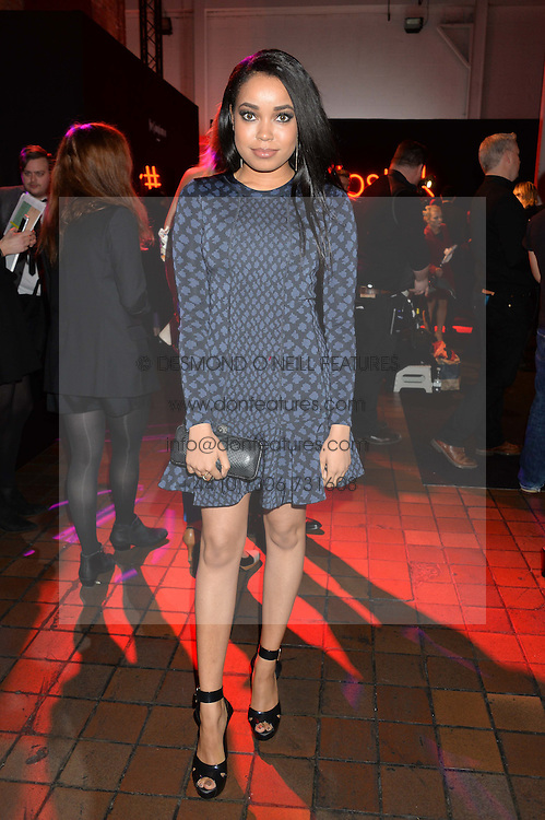DIONNE BROMFIELD at the YSL Beauty: YSL Loves Your Lips party held at The Boiler House,The Old Truman Brewery, Brick Lane,London on 20th January 2015.