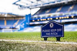 Please keep iff the pitch sign at Stamford Bridge - Mandatory by-line: Jason Brown/JMP - 01/04/2017 - FOOTBALL - Stamford Bridge - London, England - Chelsea v Crystal Palace - Premier League