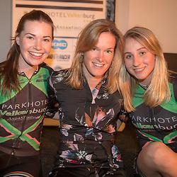 16-02-2018: Wielrennen: teampresentatie Parkhotel: Valkenburg<br />vlnr Amy Roberts, Marieke van Wanroij, Chanella Stougje