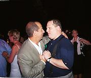 Ron Galotti and Harvey Weinstein <br />Talk magazine launch. New York. 2 September 1999.<br />© Copyright Photograph by Dafydd Jones<br />66 Stockwell Park Rd. London SW9 0DA<br />Tel 0171 733 0108