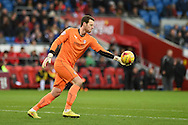 Adam Collin, the Rotherham Utd goalkeeper in action. Skybet football league championship match, Cardiff city v Rotherham Utd at the Cardiff city stadium in Cardiff, South Wales on Saturday 6th December 2014<br /> pic by Andrew Orchard, Andrew Orchard sports photography.