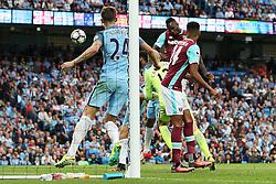 **Caption correction** Michail Antonio of West Ham United scores his sides first goal  - Mandatory by-line: Matt McNulty/JMP - 28/08/2016 - FOOTBALL - Etihad Stadium - Manchester, England - Manchester City v West Ham United - Premier League