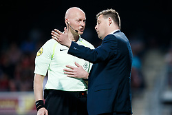 referee Siemen Mulder, coach John Stegeman of Heracles Almelo during the Dutch Eredivisie match between sbv Excelsior Rotterdam and Heracles Almelo at Van Donge & De Roo stadium on April 18, 2018 in Rotterdam, The Netherlands