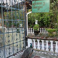 South America, Ecuador, Cotacachi. La Mirage Garden Hotel Gift Shop
