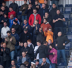 South stand after Falkirk's first goal. Falkirk v Raith Rovers. Scottish Championship game played 22/10/2016 at The Falkirk Stadium.