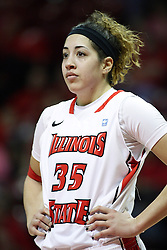 07 December 2012:  Brianna Puni during an NCAA women's basketball game between the Northwestern Wildcats and the Illinois Sate Redbirds at Redbird Arena in Normal IL