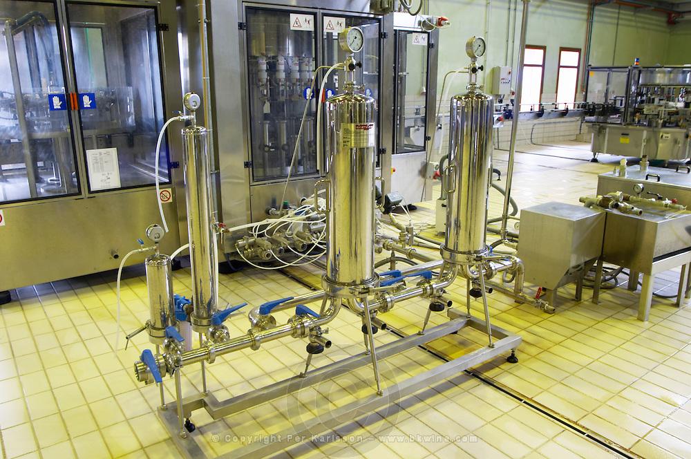 Velo crossflow filter. Alpha Estate Winery, Amyndeon, Macedonia, Greece