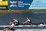 Sarasota. Florida  Gold Medalist NZL M2X. <br /> Bow. John STOREY and Christopher<br /> HARRIS, USA.Sunday Final's Day at the  2017 World Rowing Championships, Nathan Benderson Park<br /> <br /> Sunday  01.10.17   <br /> <br /> [Mandatory Credit. Peter SPURRIER/Intersport Images].<br /> <br /> <br /> NIKON CORPORATION -  NIKON D500  lens  VR 500mm f/4G IF-ED mm. 200 ISO 1/800/sec. f 7.1