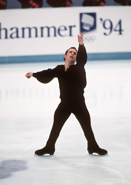 HAMAR, NORWAY -  FEBRUARY 19:  Brian Boitano of the USA skates in the Men's Singles event of the figure skating competition of the 1994 Winter Olympic Games held on February 19, 1994 at Hamar Olympic Amphitheatre in Hamar, Norway. (Photo by David Madison/Getty Images) *** Local Caption *** Brian Boitano
