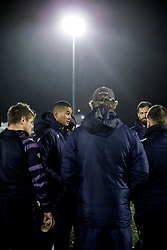 Bristol Rugby Head Coach Pat Lam talks to his players on the pitch after they arrive - Rogan/JMP - 10/02/2018 - RUGBY UNION - Trailfinders Sports Ground - Ealing Trailfinders v Bristol Rugby - Greene King IPA Championship.